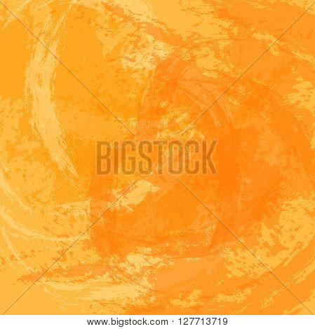 Abstract background. The surface stained with paint. Carelessly painted wall. Vector illustration. Orange colors