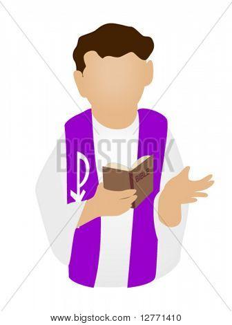Priest Icon - Vector