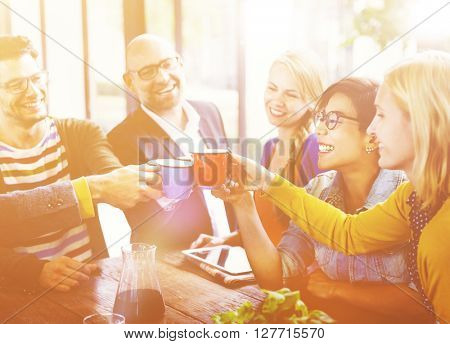 Group People Celebrating tNew Business Concept