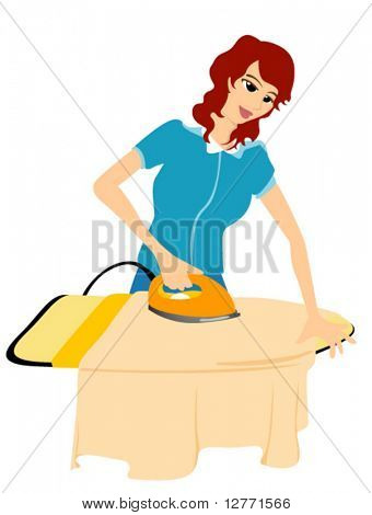 Ironing - Vector