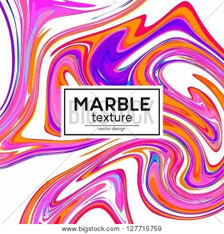 Vector background with pink painted waves. Marble texture. Vector illustration EPS10