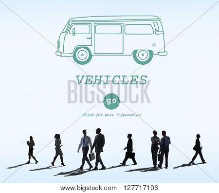 Vehicles Traveling Adventure Journey Destination Van Concept