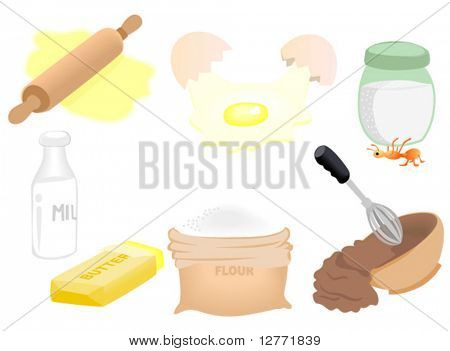 Ingredient Icons - Vector