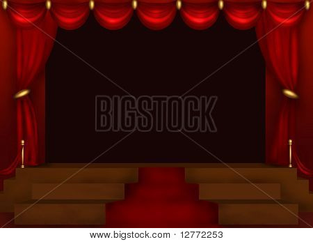 Center Stage Illustration