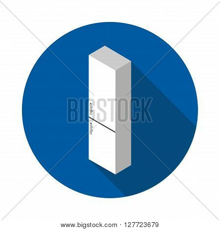 flat icon refrigerator in vector format eps10