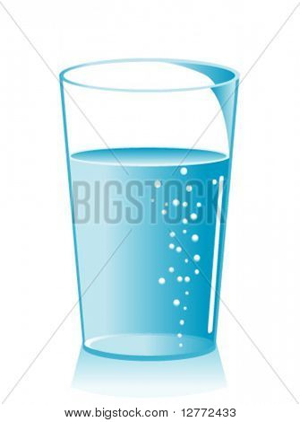 Glass of Water - Vector