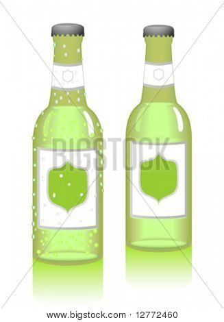 Bottled Drink - Vector