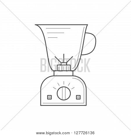 Blender icon. Thin line kitchen blender. Kitchen mixer. Food processor isolated vector illustrations