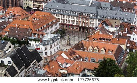 Historical center of Heidelberg town, Germany. European landscape