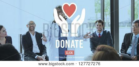Donate Giving Charity Social Help Concept