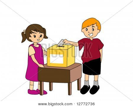 A Kid's Vote or Suggestion  - Vector