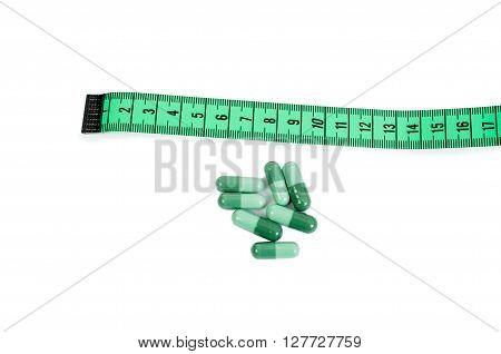 Natural Slim Diet Pills Concept