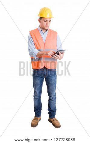 Modern Engineer Using A Tablet