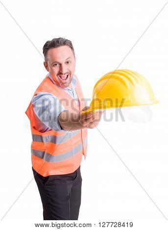Foreman Or Engineer Throwing Hat