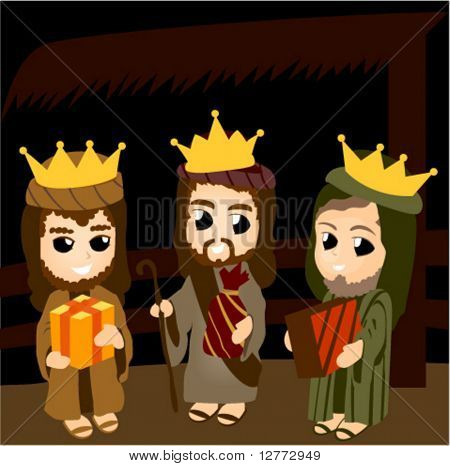 The Three Kings - Vector