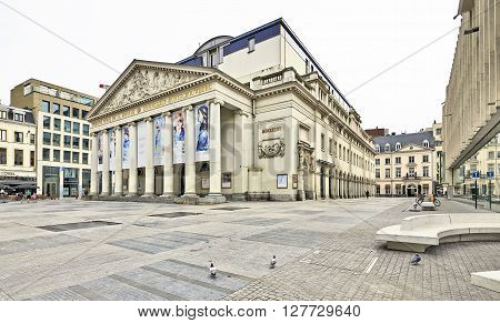 The Royal Theatre La Monnaie In Brussels In Belgium