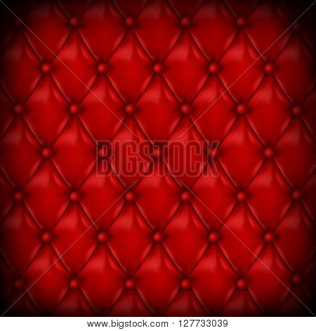 Vector Leather background with buttons. Luxury background.. Leather background. Leather background. Vector illustration of red leather background. Vector leather texture. Leather texture.