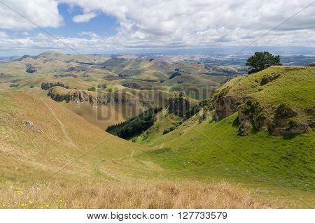 View from Te Mata Peak, Hawkes Bay North, Island New Zealand