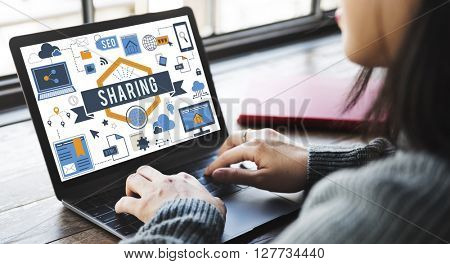 Business Woman Working On Computer Concept