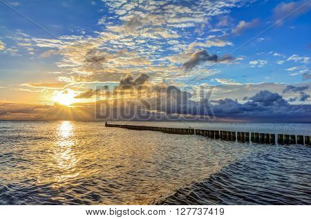 Beach After Sunrise On Usedom