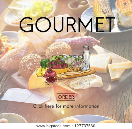 Gourmet Dining Eating Food Healthy Nutrition Concept