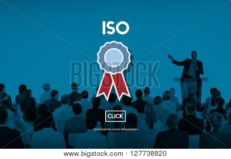 ISO Business Industrial Certification Quality Concept