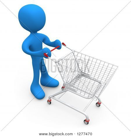 Person With Shopping Cart