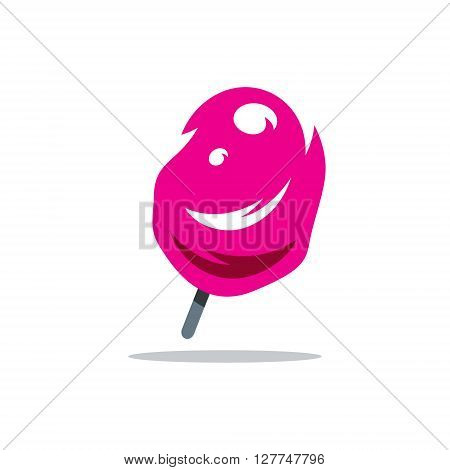 Colored Ice Lolly Isolated on a White Background