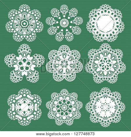 Set Of Oriental Vector Pattern With Arabesque And Floral Elements. Traditional Ornament. Vector
