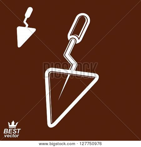 Classic vector industrial spatula additional version included. True 3d putty manufacturing theme icon.