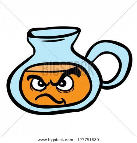 angry lemonade jug cartoon illustration