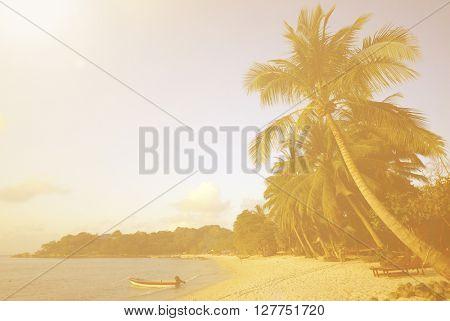 Tropical Island Travel Destination Concept