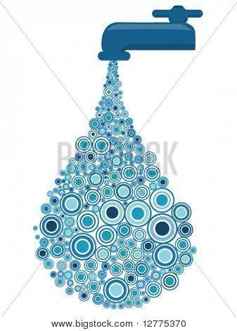 Water Drop Circles Design - Vector