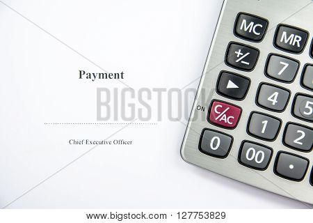 Business document about the payment sign background