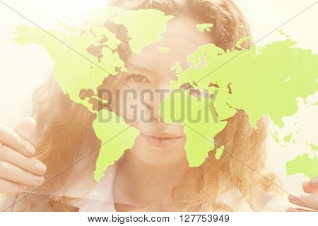 Businesswoman Global Commercial Enterprise Concept