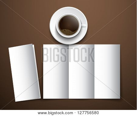 The Mockup Of The Coffee Menu With A Cup Of Coffee