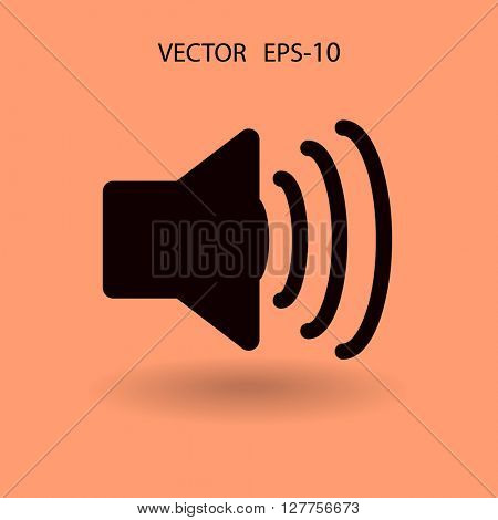 Flat icon of speaker