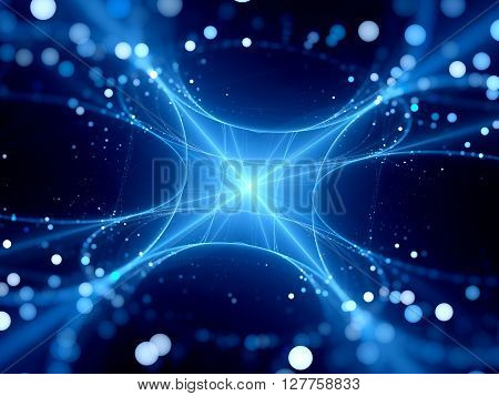 Blue new glowing space technology computer generated abstract background