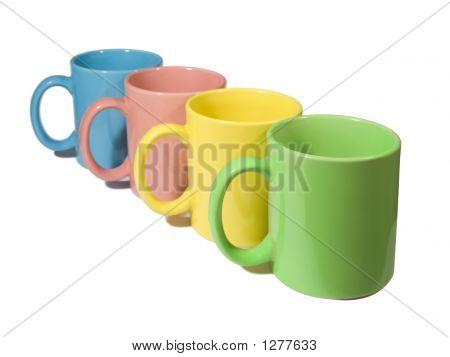Four Colorful Mugs