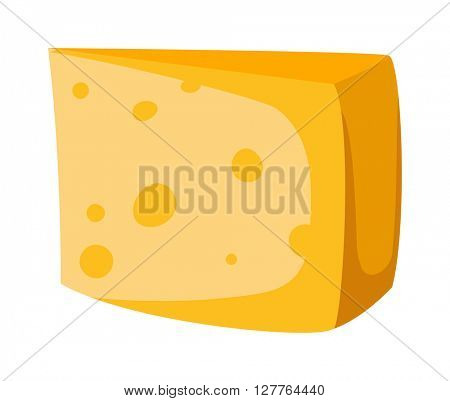Cheese slice isolated vector