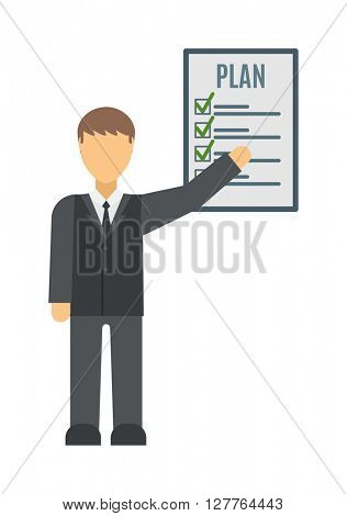 Business plan strategy presentation vector.