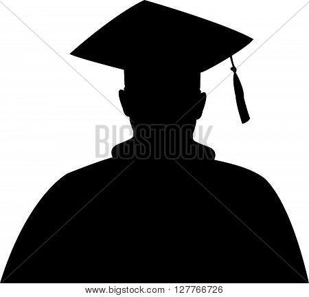 Graduate Silhouette, a man head silhouette vector