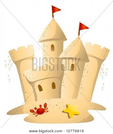 Castelo de areia - vetor