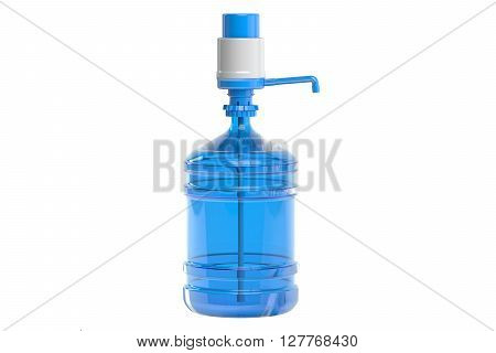 Drinking Water bottle with pump dispenser 3D rendering