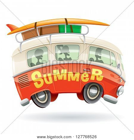 Camper van, summer vacation.