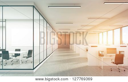 Concrete Office Sunlight Toning