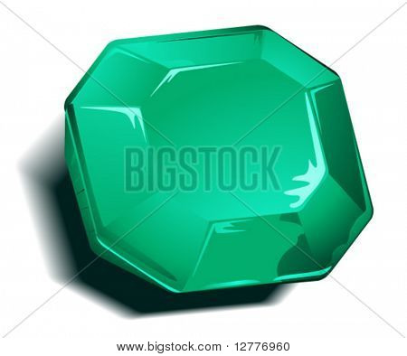 Emerald Birthstone - Vector