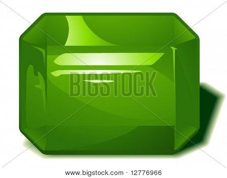Peridot Birthstone - Vector