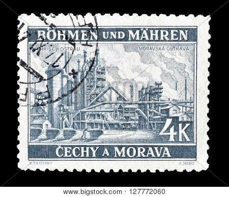 GERMANY - CIRCA 1939 : Cancelled postage stamp printed by Germany, that shows Industrial plant.