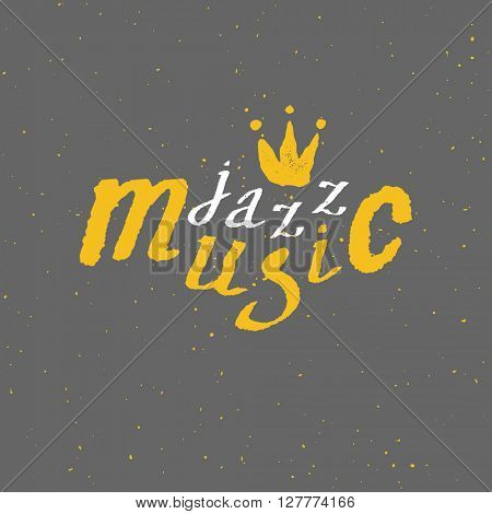 Jazz - live music. Lettering. Vector background Vector illustration
